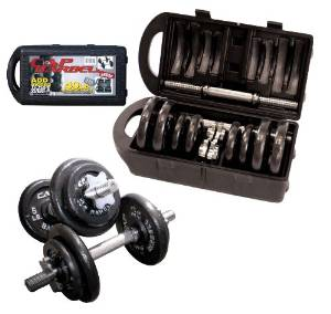 CAP Barbell 40-pound Adjustable Dumbbell Set with Case. Seth Rogen weight loss-