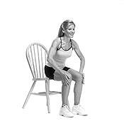Seated Hand Push Ex. Thinner thighs workout