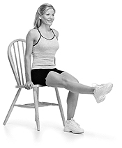 Seated Leg Raise. Thinner thighs workout