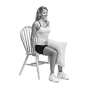 Seated Pillow Squeeze Ex. Thinner thighs workout